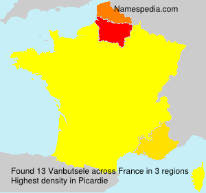 Surname Vanbutsele in France
