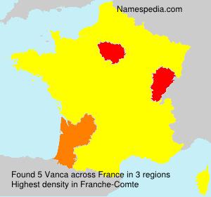 Surname Vanca in France