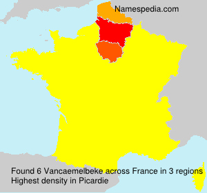 Surname Vancaemelbeke in France
