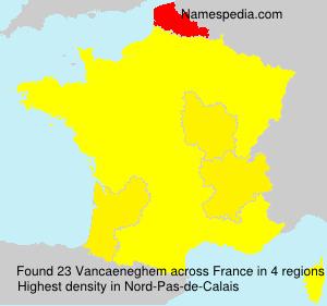 Surname Vancaeneghem in France