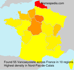 Surname Vancaeyzeele in France