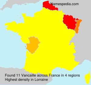 Surname Vancaille in France