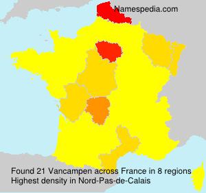 Surname Vancampen in France
