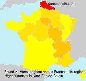 Surname Vancaneghem in France