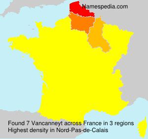 Surname Vancanneyt in France