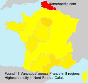 Surname Vancappel in France