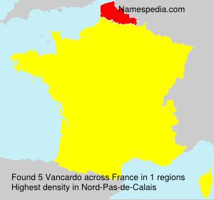 Surname Vancardo in France