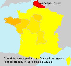 Surname Vancassel in France