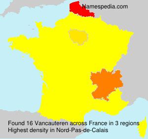 Surname Vancauteren in France
