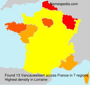 Surname Vancauwelaert in France