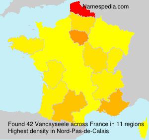Surname Vancayseele in France