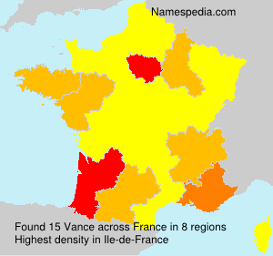 Surname Vance in France
