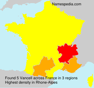 Surname Vancell in France