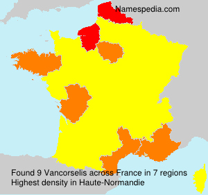 Surname Vancorselis in France