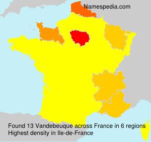 Surname Vandebeuque in France