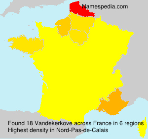 Surname Vandekerkove in France