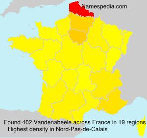 Familiennamen Vandenabeele - France