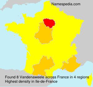 Surname Vandenaweele in France
