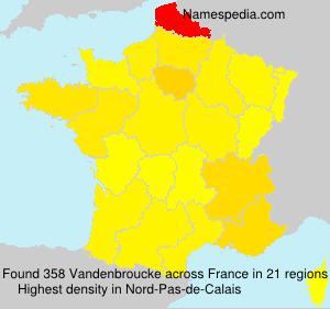 Surname Vandenbroucke in France