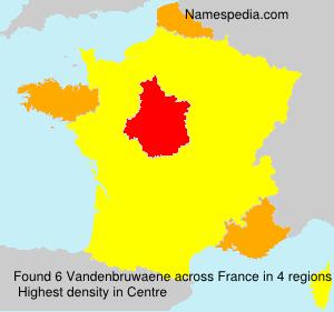 Surname Vandenbruwaene in France