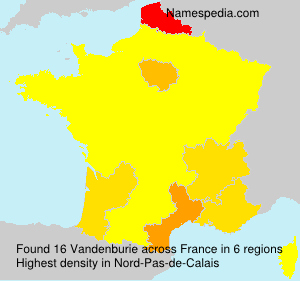 Surname Vandenburie in France