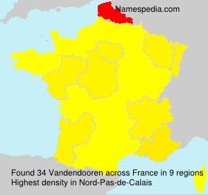 Surname Vandendooren in France