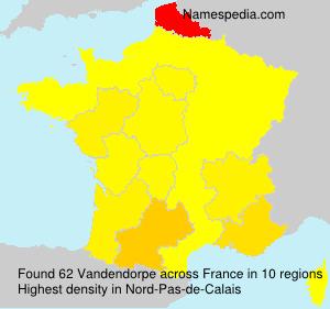 Surname Vandendorpe in France