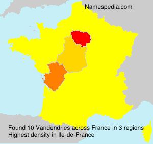 Surname Vandendries in France