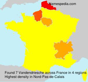 Surname Vandendriesche in France