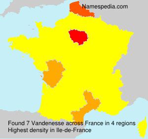 Surname Vandenesse in France
