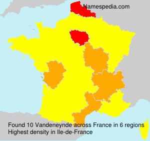 Surname Vandeneynde in France