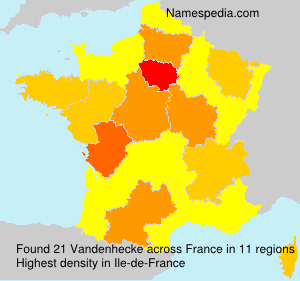 Surname Vandenhecke in France