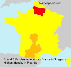 Surname Vandenheule in France