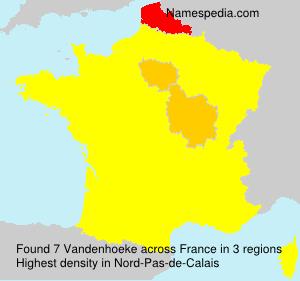 Surname Vandenhoeke in France