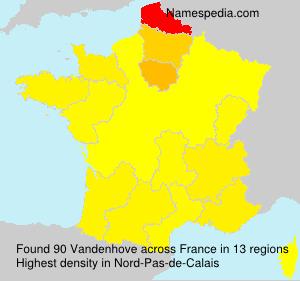 Surname Vandenhove in France