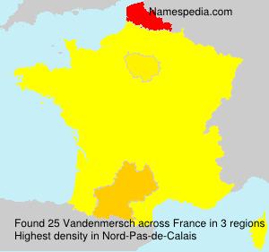 Surname Vandenmersch in France