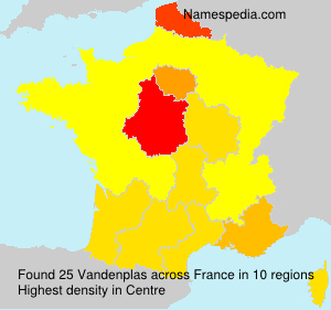 Surname Vandenplas in France