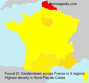 Surname Vandensteen in France