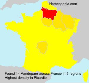 Surname Vandepaer in France
