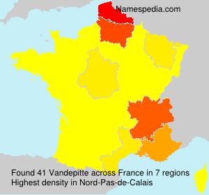 Surname Vandepitte in France