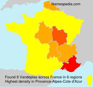 Surname Vandeplas in France