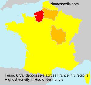Surname Vandeponseele in France