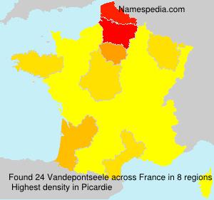 Surname Vandepontseele in France