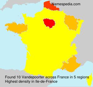 Surname Vandepoorter in France
