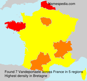 Surname Vandeportaele in France