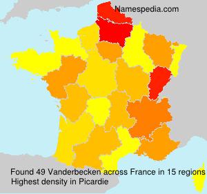 Surname Vanderbecken in France