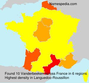 Surname Vanderbeeken in France