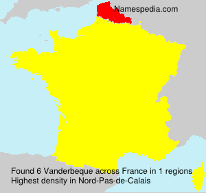Familiennamen Vanderbeque - France