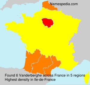 Surname Vanderberghe in France