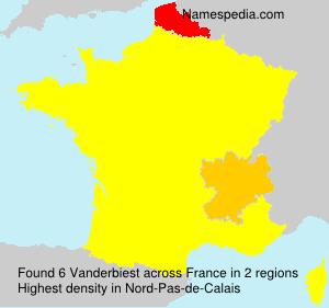 Surname Vanderbiest in France